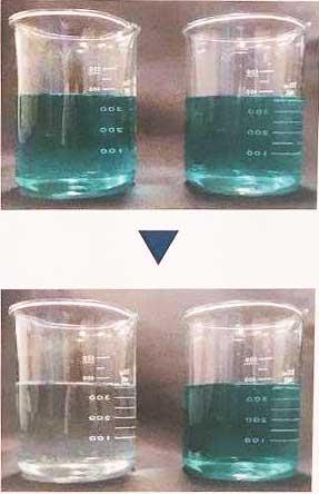 アクティブマイクロウェーバーによる脱色実験結果